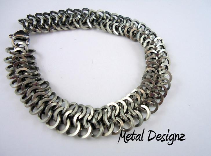 Stainless Steel Square Euro 4-1 Bracelet