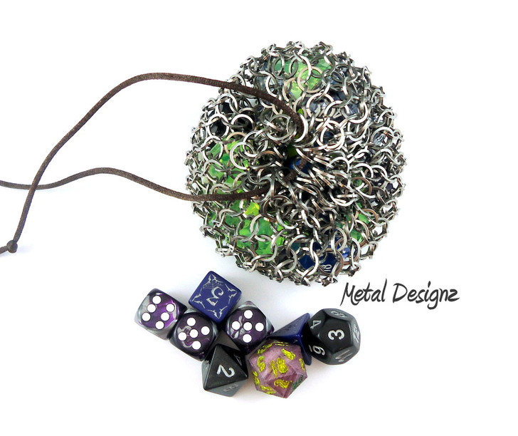 Metal Designz own Dice Bag Kit - Stainless Steel. Top Quality Saw cut jump rings - Great value for best quality