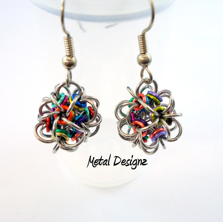 CHAINMAIL - Japanese 12-1 earrings - Little ball earring kit - buy now in Canadian dollars