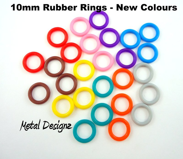 Rubber Jump Rings - 10 mm