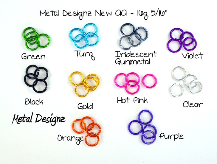 "New 16g 5/16"" Anodized Aluminum - Shop Metal Designz"