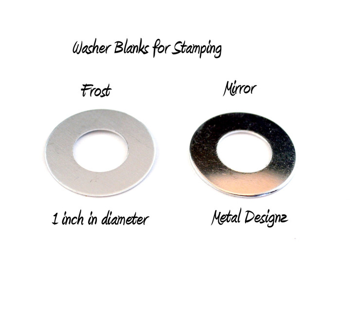 """Stamping Blanks - Bag of 10 - Round Donuts - 1"""" Diameter - FROST"""
