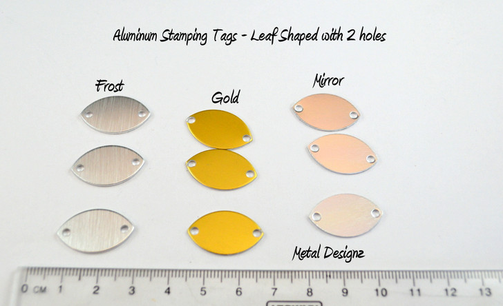 Stamping Blanks - Bag of 20 - Leaf Shape- 2 holes - GOLD AA