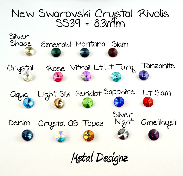 Rivoli SS39 - Swarovski Crystal - Sold individually