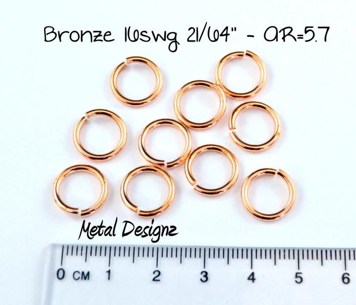 """Bronze Jump Rings 16 Gauge 21/64"""" id."""