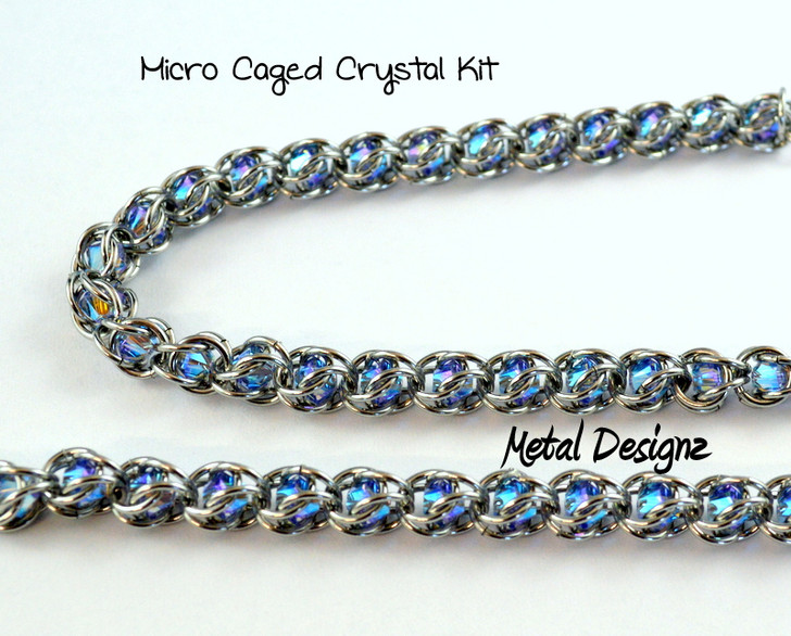 Micro Caged Crystal Kit - Makes 10 inches of Chain- Swarovski Crystals!