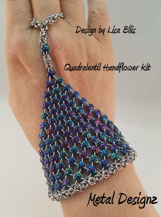 Quadralentil Handflower kit- Beads & Rings - No tutorial