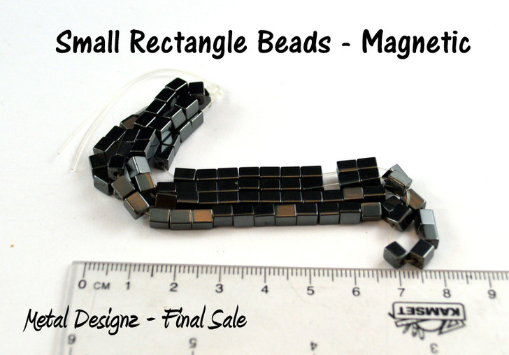 Magnetic Beads - CLEARANCE - 4mm Rectangle