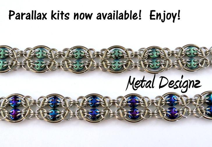 Parallax Bracelet kit- Stainless Steel & Quadralentil Beads