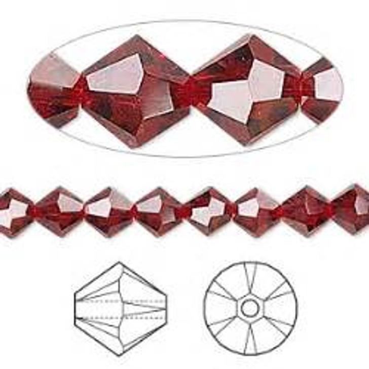 Swarovski Crystal, 4mm  bicone (48pk), Siam