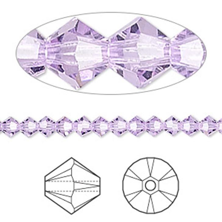 Swarovski Crystal, 4mm  bicone (48pk), Violet