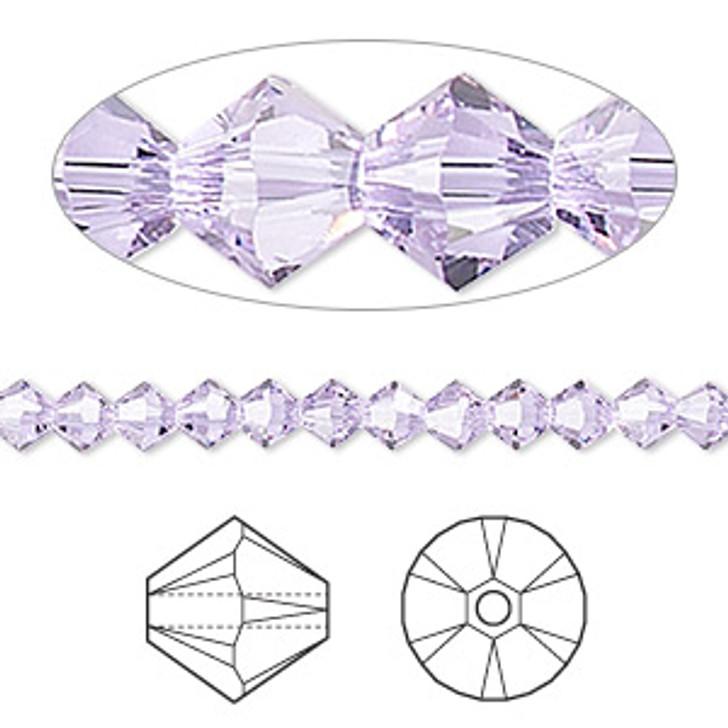 Swarovski Crystal, 4mm  bicone (48pk), Alexandrite