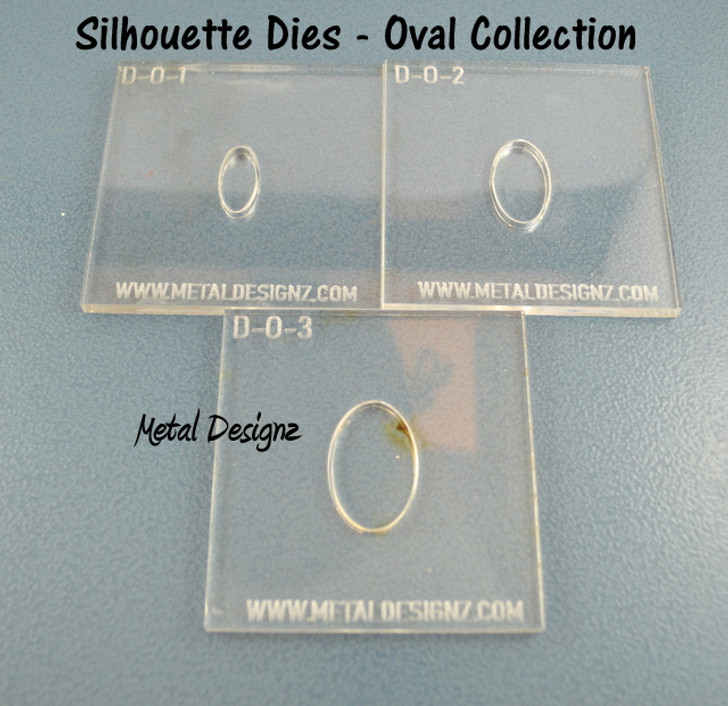Oval Silhouette Die Set of 3