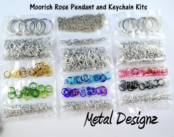 Moorish Rose Kit- Pendant or Keychain - No Tutorial - To accompany Lisa Ellis's Video Tutorial