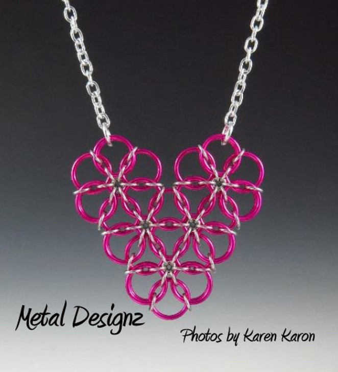 Borealis Heart Necklace Kit - Karen Karon - Kit Only - No Tutorial Included