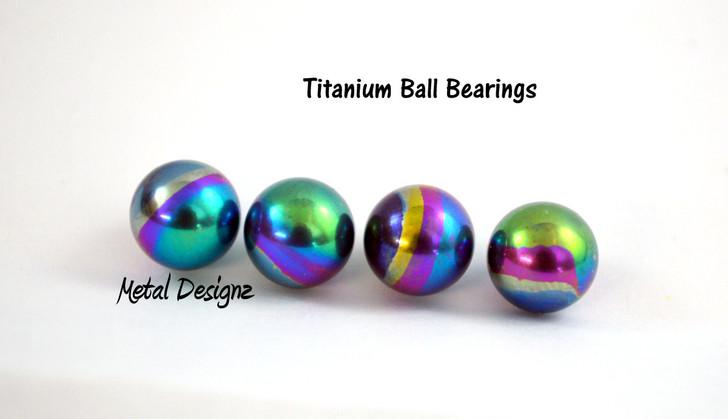 Anodized Titanium Ball Bearings -Packs of 10