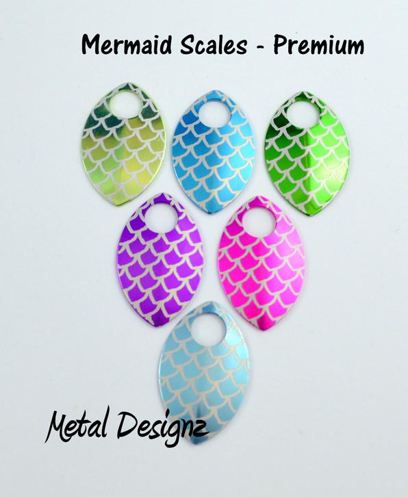 Mermaid Engraved Anodized Aluminum Large Scales - Premium Colours