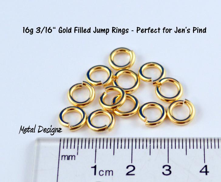 "Gold Fill 16 Gauge 3/16"" id."