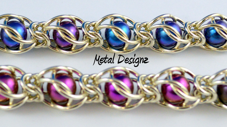 Caged Ball Bearing Bracelet Kit - Sterling Silver and Titanium