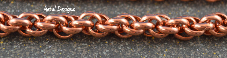 Smaller Spiral Bracelet Kit - Half Round Copper Rings