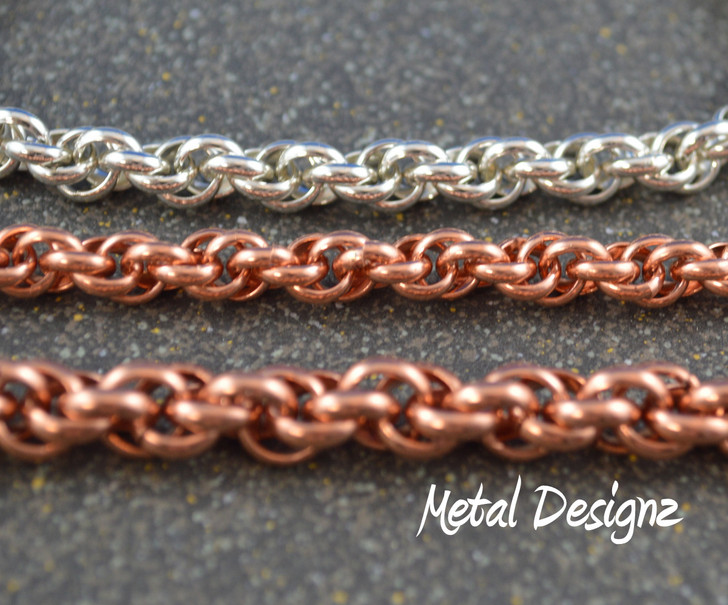 Larger Spiral Bracelet Kit - Half Round Copper Rings