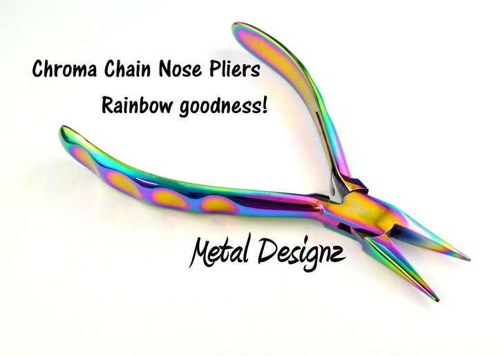 Chroma - RAINBOW Pliers - Chain Nose - Sold Individually