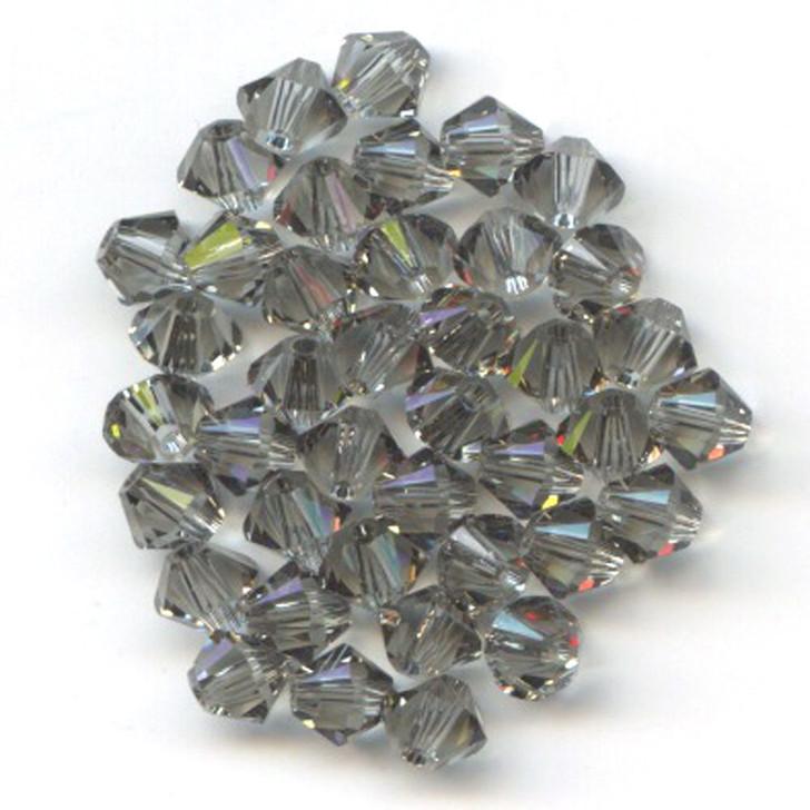 Swarovski Crystal, 4mm  bicone (48pk), Black Diamond