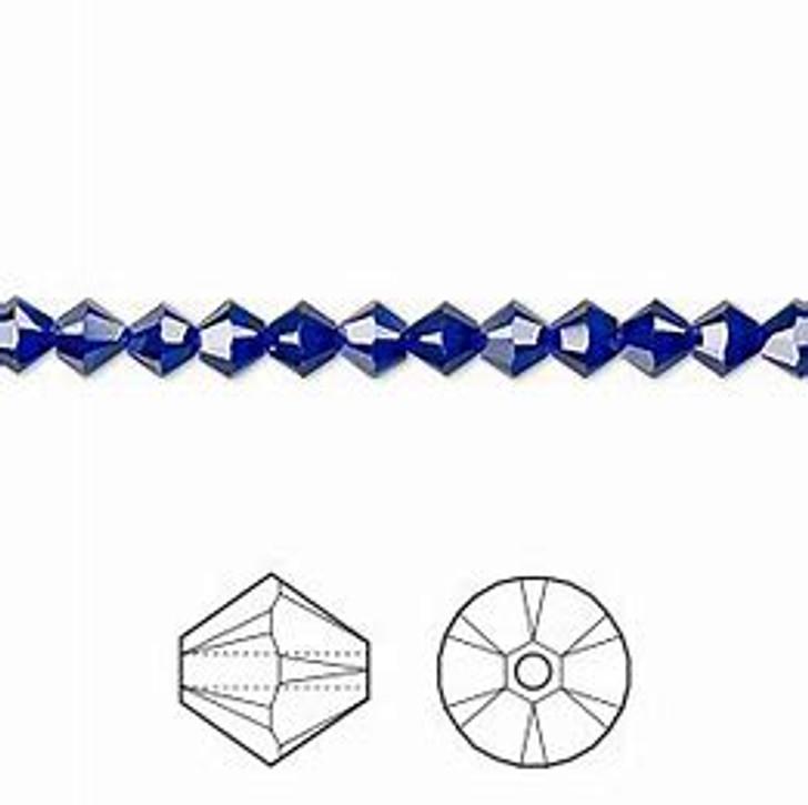 Swarovski Crystal, 4mm  bicone (48pk), Cobalt