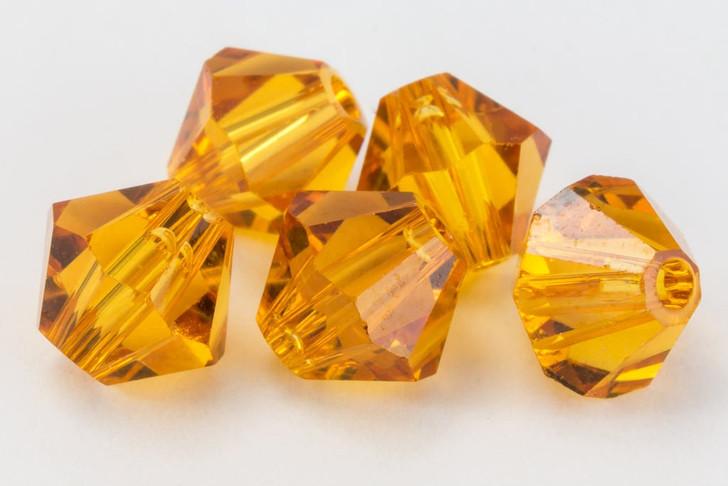 Swarovski Crystal, 4mm  bicone (48pk), Topaz