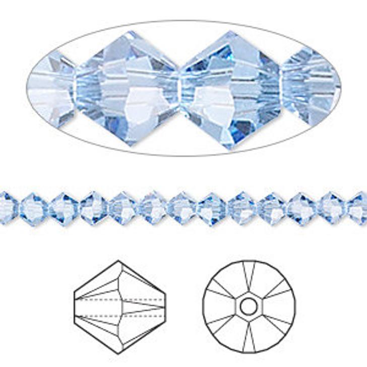 Swarovski Crystal, 4mm  bicone (48pk), Light Sapphire
