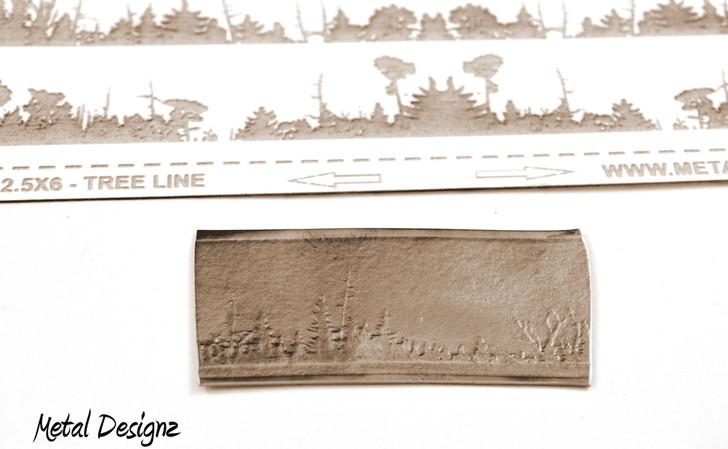 Laser Cut Texture Paper - Tree Line