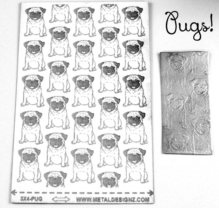 Laser Cut Texture Paper -Pugs
