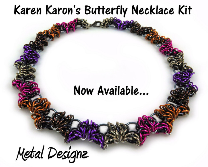 Butterfly Necklace Kit - Karen Karon - Kit Only - No Tutorial Included