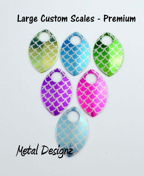Custom Engraved Anodized Aluminum Large Scales - Premium Colours