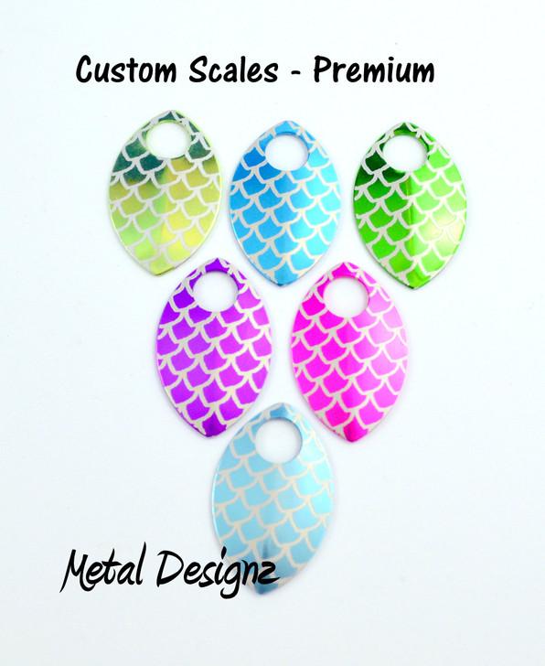 Custom Engraved Anodized Aluminum Small Scales - Premium Colours