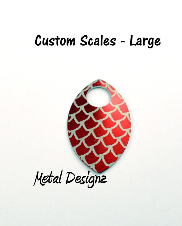 Custom Engraved Large Anodized Aluminum Scales