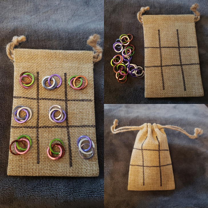 Tic Tac Toe Game - in a burlap sac!!