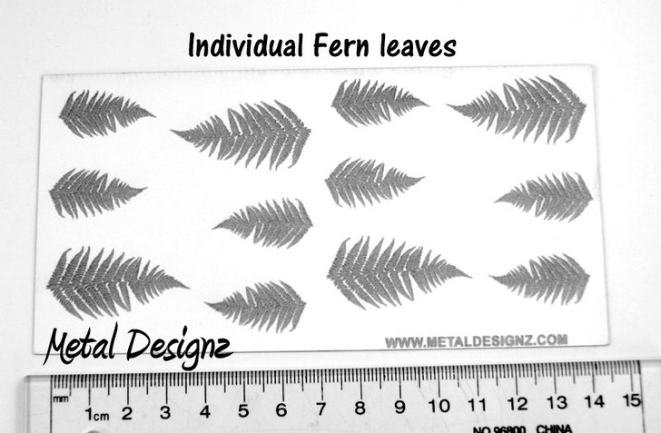 Laser Cut Texture Paper -Individual Fern leaves