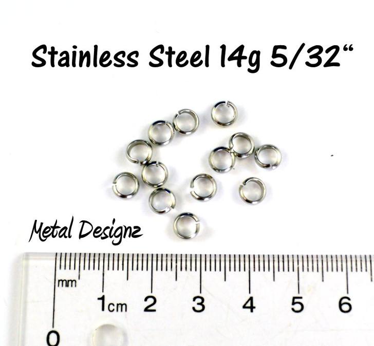 """Stainless Steel - Half Round Wire - 14g 5/32"""""""