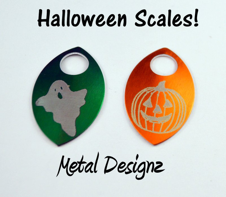 Pumpkin Scale Engraved Anodized Aluminum Large Scales