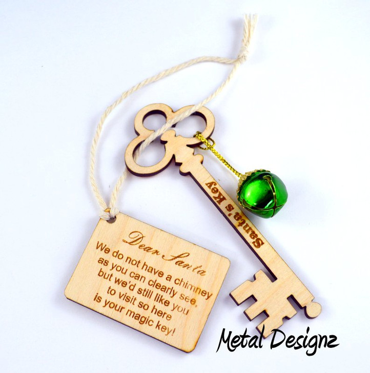 Santa's Magic Key Ornament - for your tree!