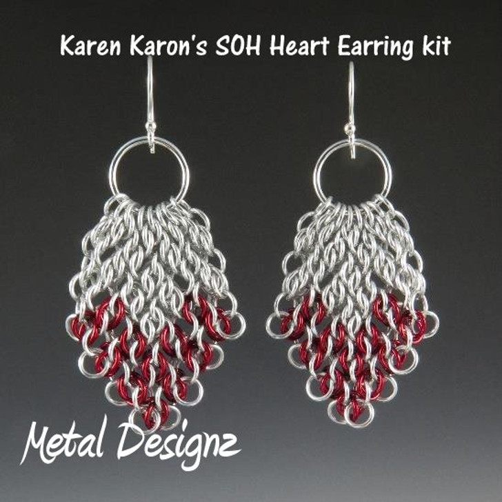 Sense of Humor Heart Earring Kit - Karen Karon - Kit Only - No Tutorial Included