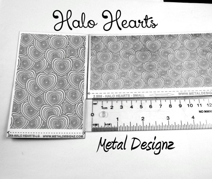 Laser Cut Texture Paper - Halo Hearts