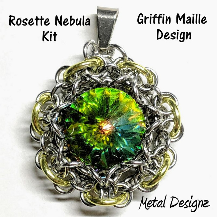 Rosette Nebula Pendant Kit - GriffinMaille Kit - No Tutorial included - Makes 2 pendants