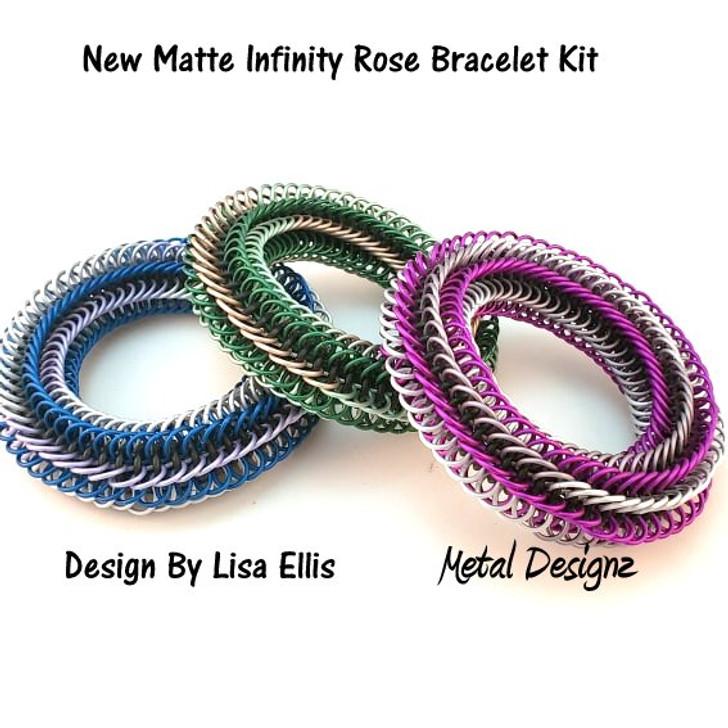 New Matte Infinity Rose Bracelet Kit - Rings only.