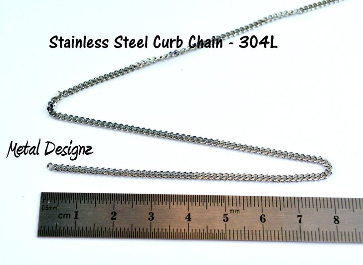 Stainless Steel Soldered Chain -2.25mm X2.7MM - By the foot