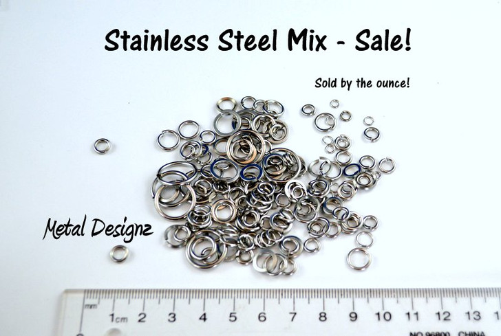 Stainless Steel Mix - Sold by the Ounce - Limited Quantities - Get them fast!