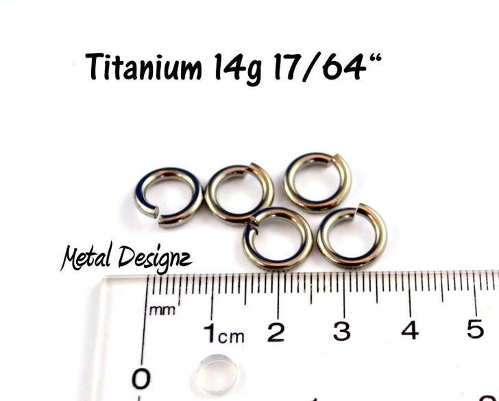 """Titanium Jump Rings 14 Gauge 17/64"""""""