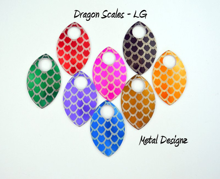 Dragon Scale Engraved Anodized Aluminum Large Scales
