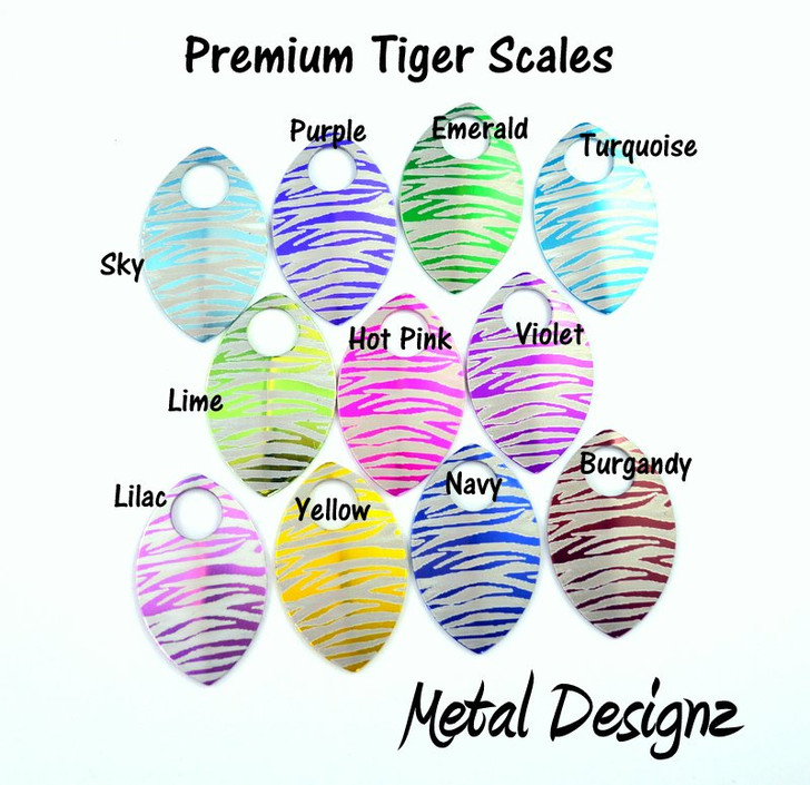 Tiger Scale Engraved Anodized Aluminum Large Scales - Premium Colours